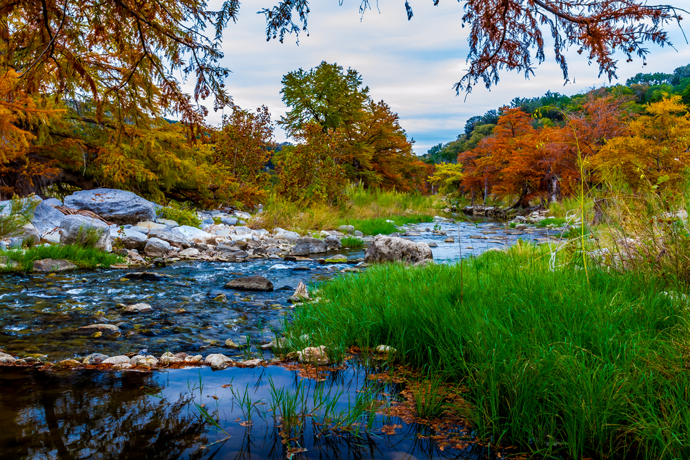 Pedernales Falls State Park is a pretty place during fall in Texas.