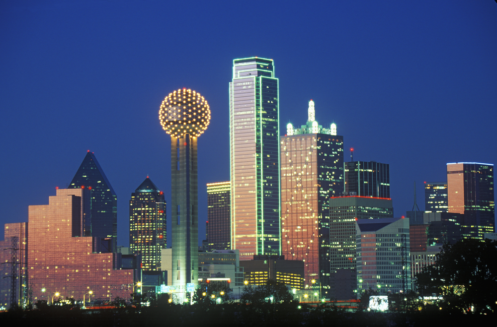 downtown dallas at night on your texas road trip