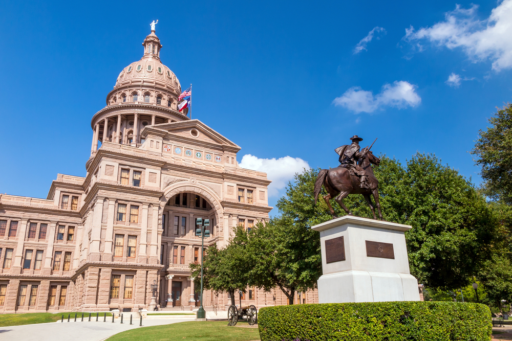 Texas State Capitol on a sunny day