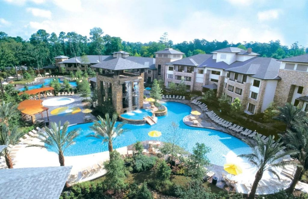 Photo of the waterpark at The Woodlands Resort, one of the most fabulous weekend getaways in Texas