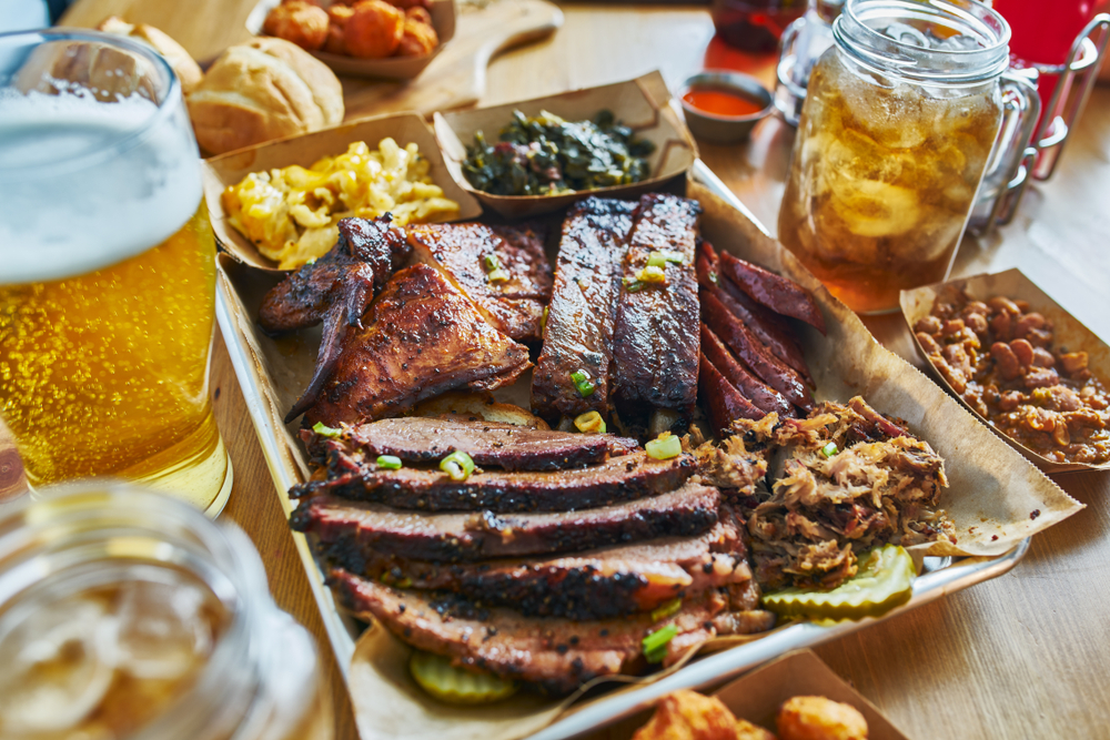 close up of ribs on one of the best restaurants in Austin