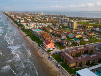 view of south padre island, one of the best beach towns in Texas