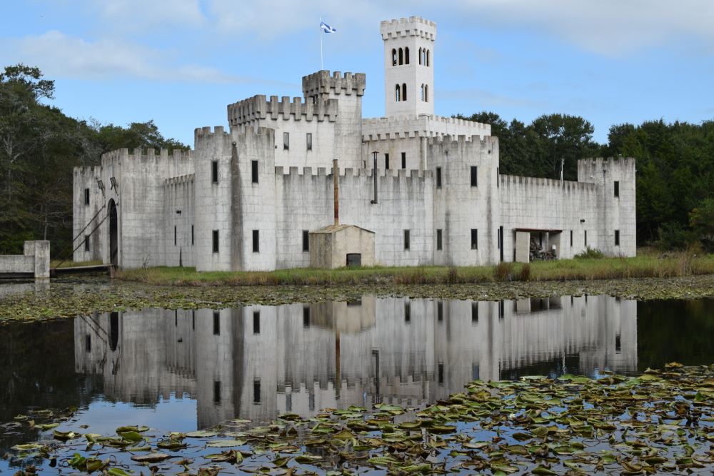 Newman's castle and pond in Bellville, Texas, one fairytale castle in Texas you must see.