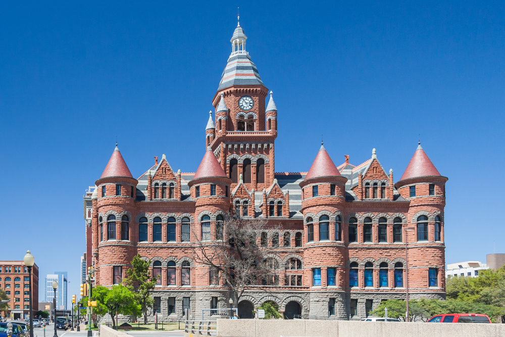 The Old Red Museum in downtown Dallas on a sunny day