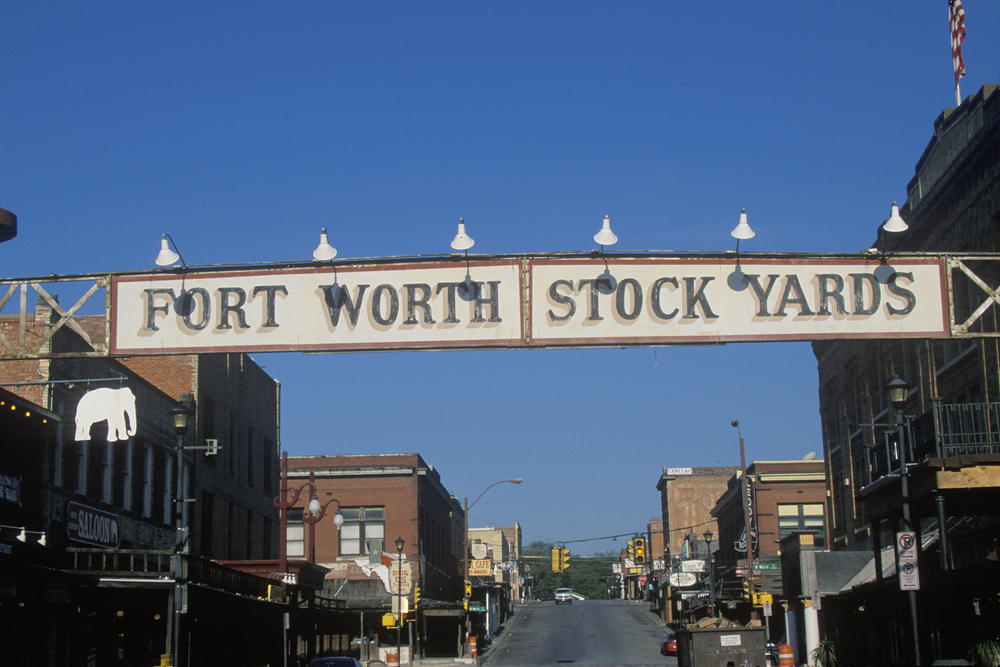 photo of the Fort Worth stockyards entrance sign