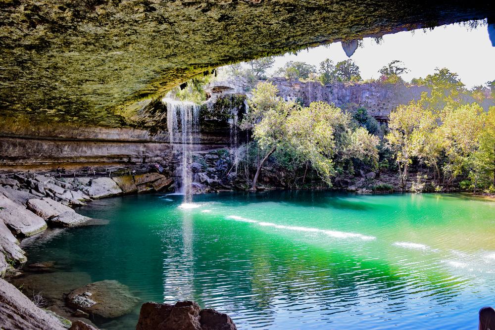 water hanging in the hamilton pool one of the best things to do in texas