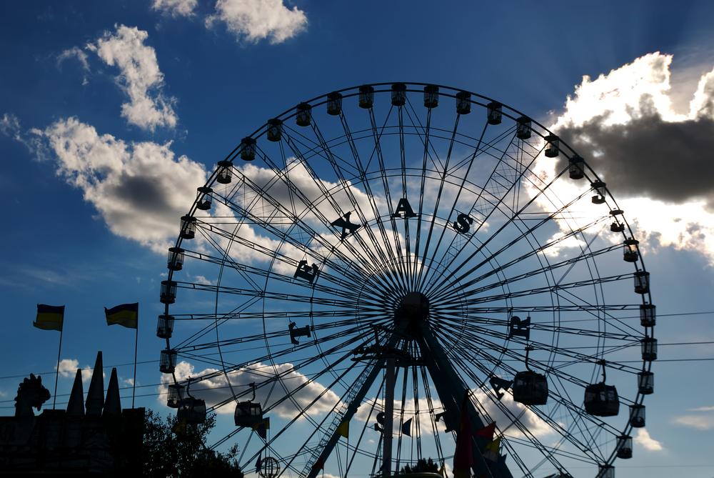 photo of the Texas Ferris wheel at the texas state fair