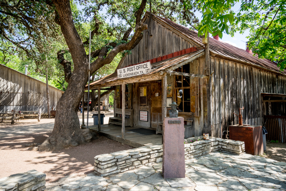 post office in Luckenbach one of the German towns in Texas