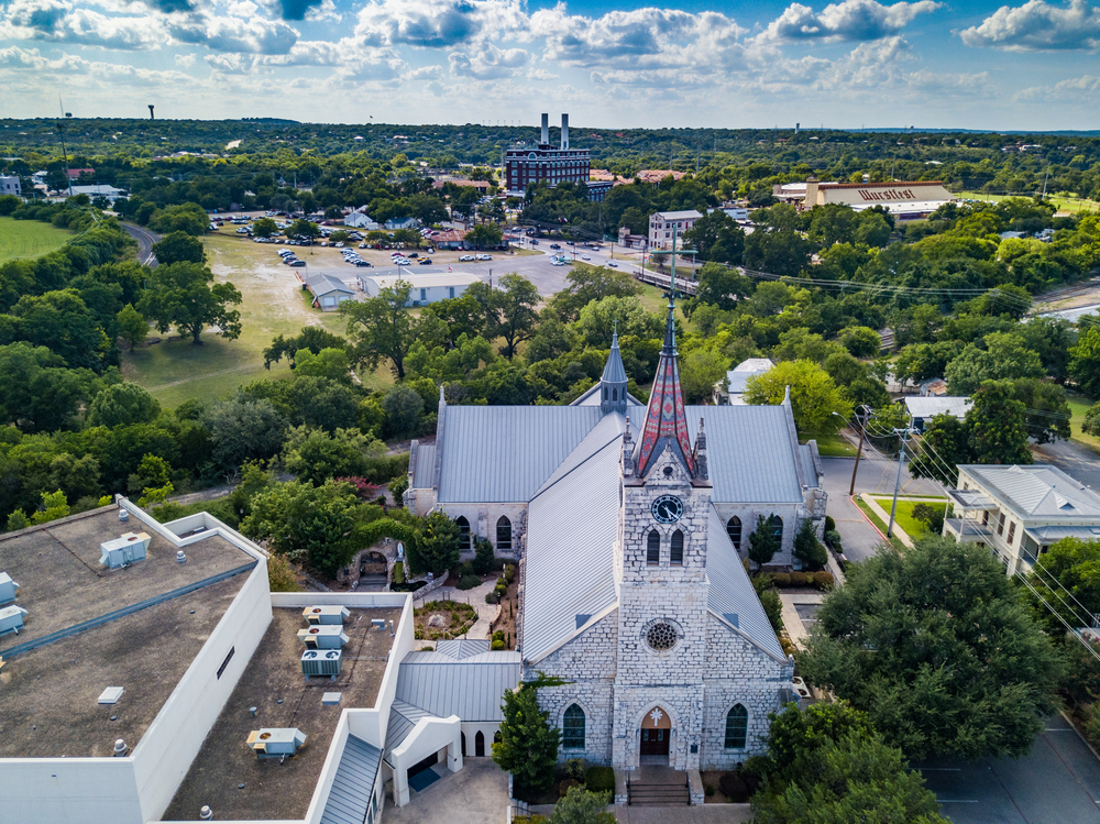 photo of a church in a German town in Texas
