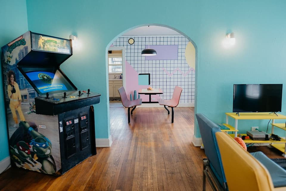 photo of the McFly an 80's themed Airbnb in Dallas