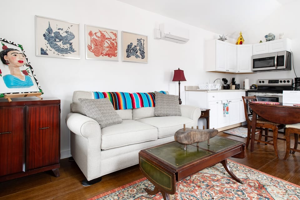 the Vibrant Downtown Bungalow is one of your options for San Antonio Airbnbs